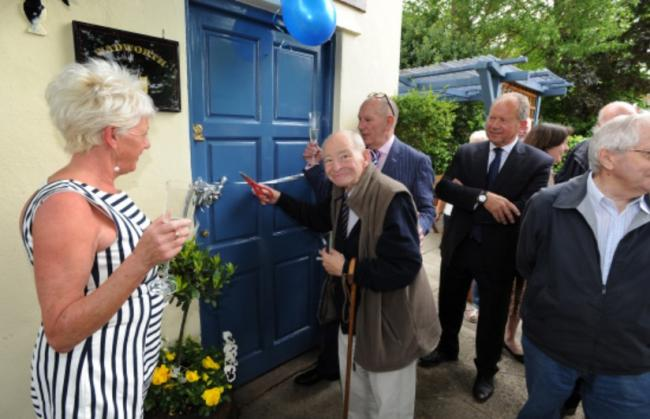 Inspector Morse author Colin Dexter officially reopened the newly refurbished Prince of Wales pub in Iffley. Picture: JON LEWIS 2015