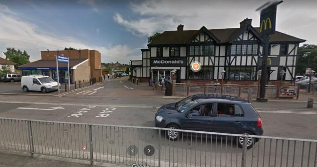 The McDonald's restaurant in London Road   Picture: Google Maps
