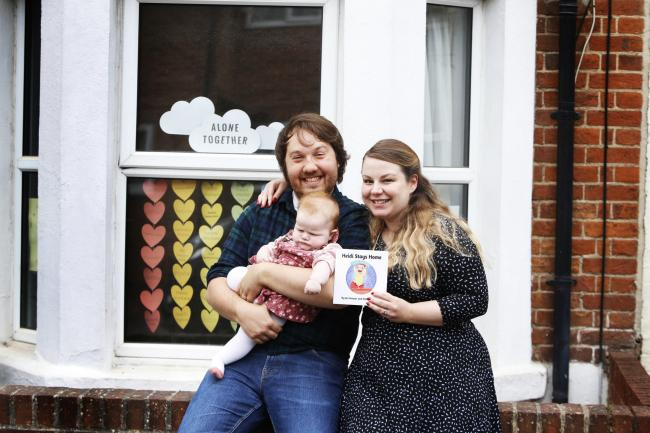 Jen Harper has written a children's book based on her experiences of shielding with new daughter Heidi and husband Charlie, who is undergoing chemotherapy for an auto-immune disease 						                 Picture: Ed Nix