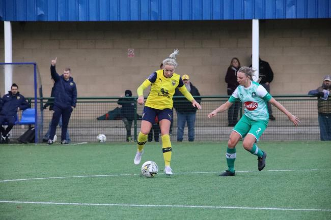 Emily Allen will stay with Oxford United Women next season Picture: Darrell Fisher