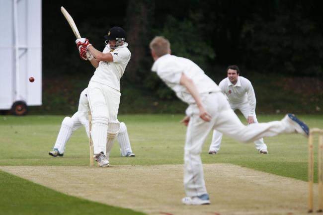 Cumnor opener Adam Cook adds to his total in the Tier 1A clash with Sandford St Martin  Picture: Ed Nix