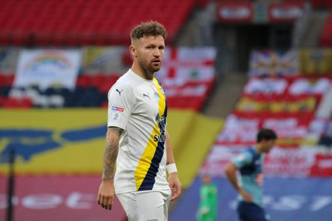 Matty Taylor in action for Oxford United at the play-off final earlier this month   Picture: Steve Daniels