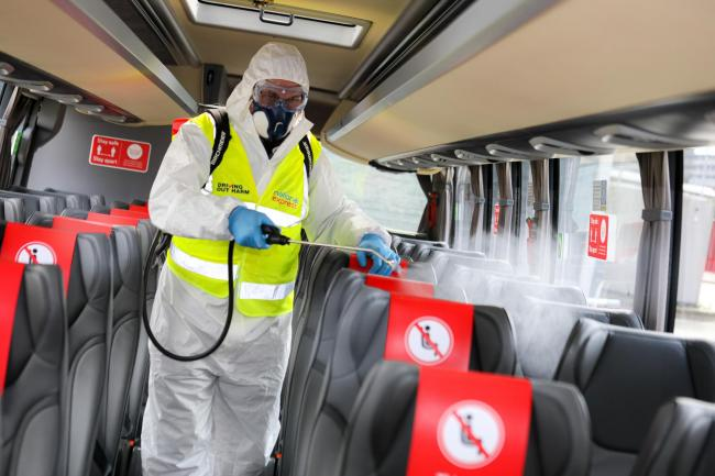 New safety measures and cleaning procedures. Pictured is the Birmingham Coach Station, Digbeth. Picture: Shaun Fellows / Shine Pix Ltd