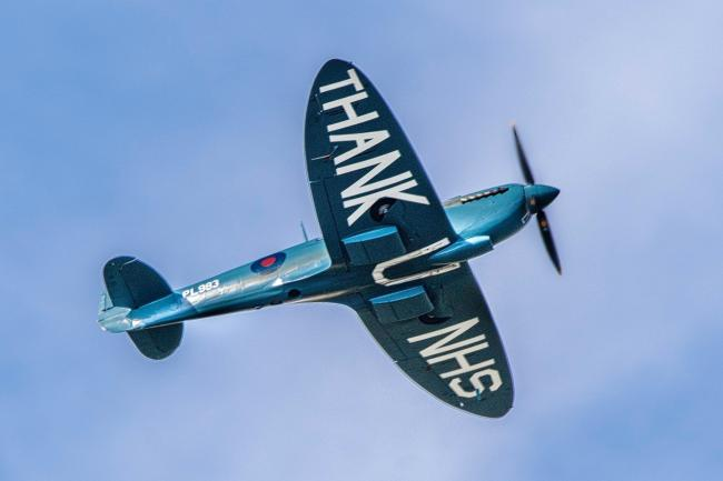 Camera Club's Anthony Morris took this snap of the NHS Spitfire