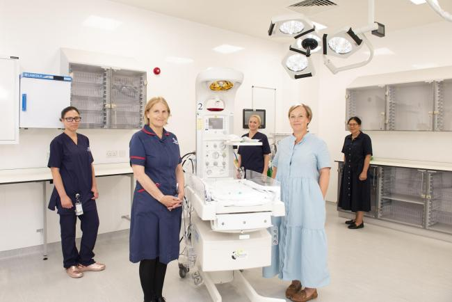 Maternity staff at the new John Radcliffe theatre. Picture: Oxford University Hospitals