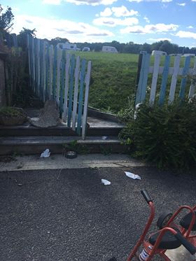 Thieves 'take poo' at nursery entrance before stealing toys