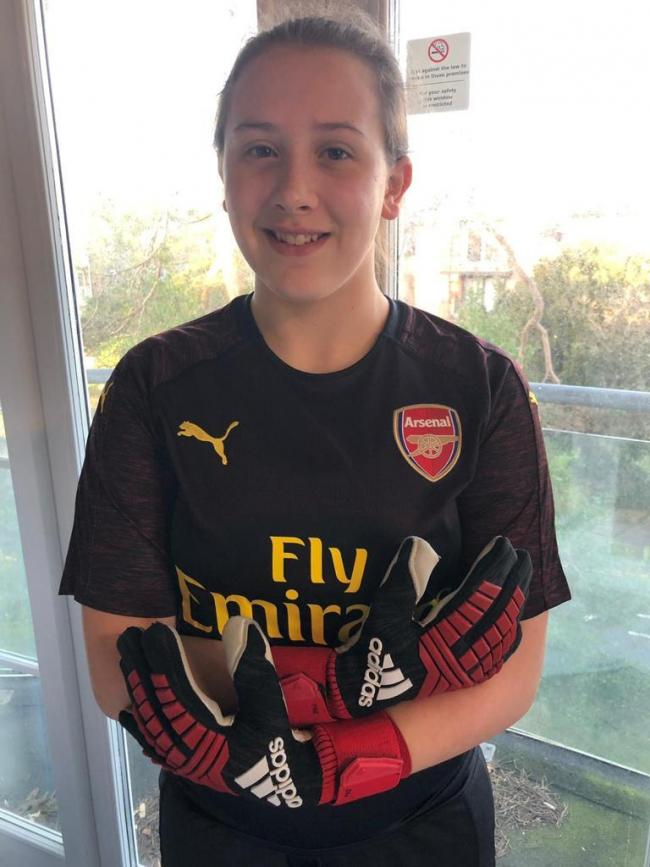 Sophie Harris has been given the opportunity to join the Arsenal Women Youth Academy