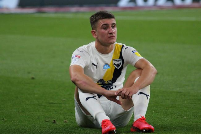 Cameron Brannagan after Oxford United's play-off final defeat to Wycombe Wanderers Picture: Steve Daniels