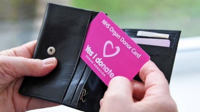 Organ donor card. Picture: NHS