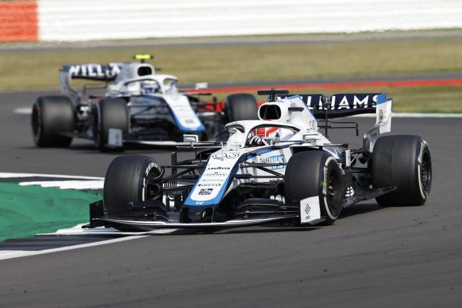 George Russell leads Williams teammate Nicholas Latifi – the pair were the last cars to finish at Silverstone   Picture: Andrew Boyers, Pool via AP