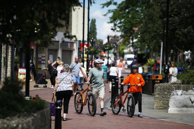 Oxfordshire County Council wants more people to walk and cycle locally in Bicester. Picture: Ed Nix
