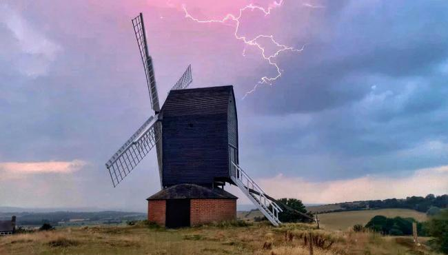 Summer storm at Brill windmill by camera club member Victoria Timms