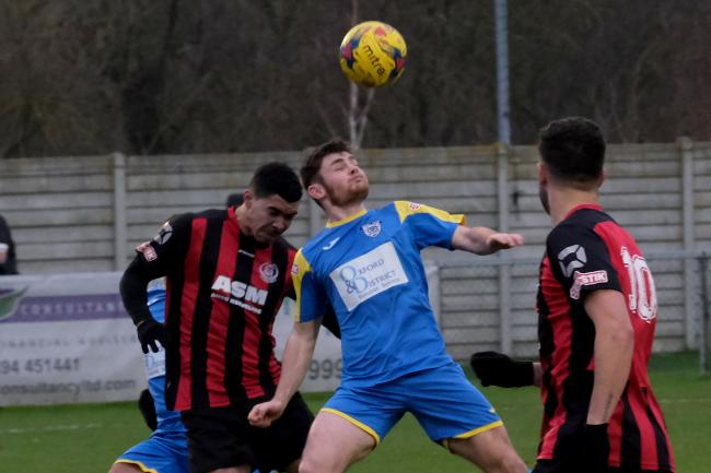 Cameron McNeil in action for Didcot Town Picture: Ric Mellis