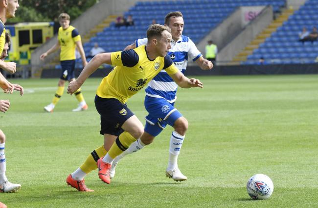 Sam Long in action for Oxford United against QPR in a pre-season friendly last July Picture: David Fleming
