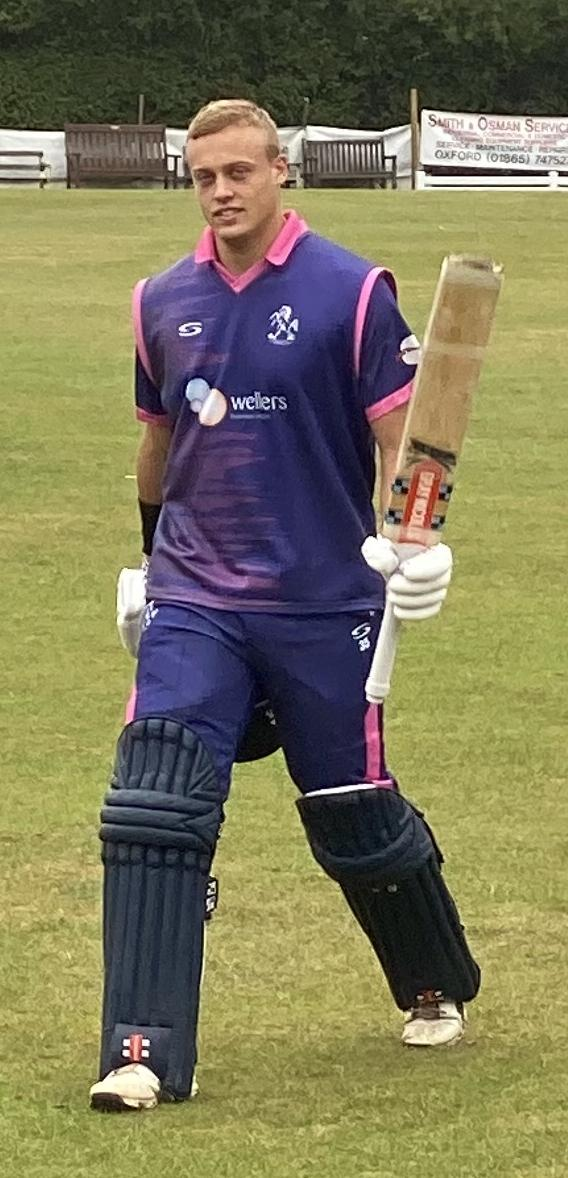 Harrison Ward hit a century in the Home Counties Premier League on Saturday   Picture: Horspath CC