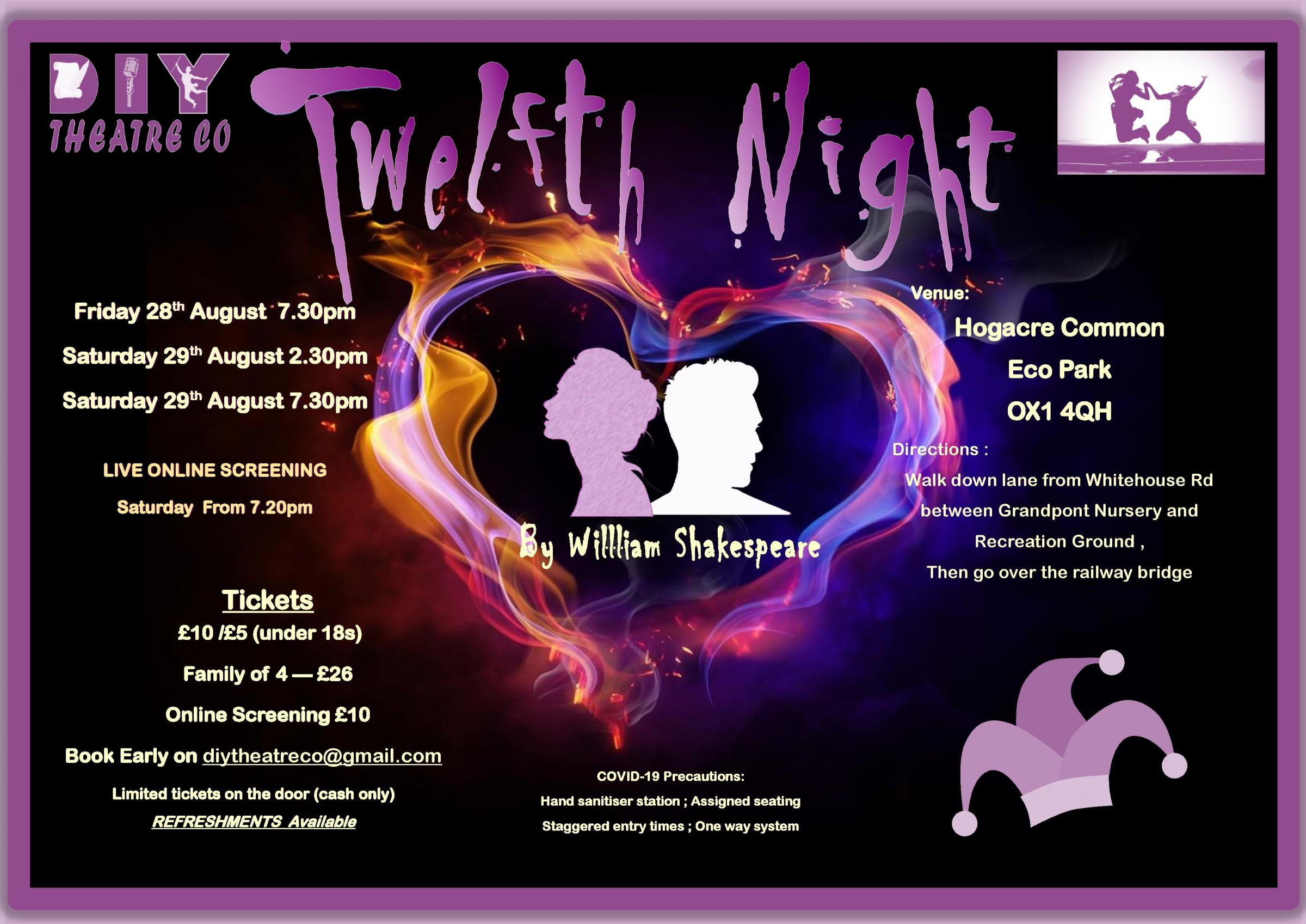Twelfth Night by William Shakespeare presented by DIY Theatre & Co