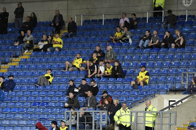 Restricted attendances would see supporters socially distanced   Picture: David Fleming