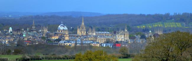 Oxford from Boar's Hill. Picture: Richard Cave.