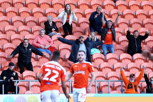 Blackpool allowed 1,000 fans in as part of a test event - and they were rewarded with victory against Swindon Town   Picture: Tim Markland/PA Wire