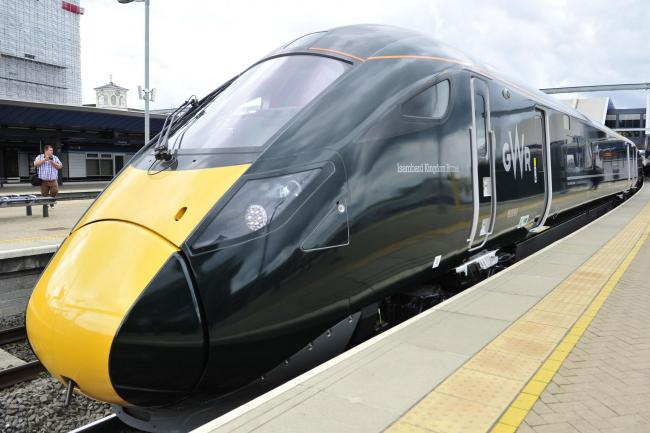 File pic of a train at Reading Station