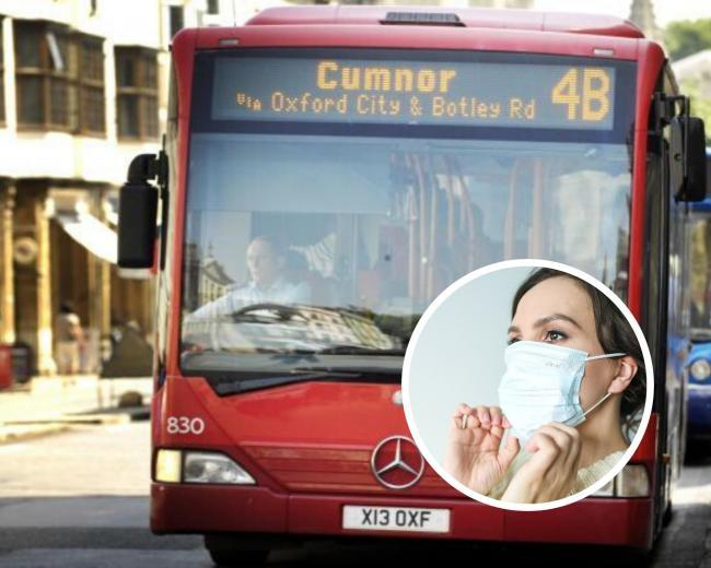 Wearing a face mask on the bus is legally required