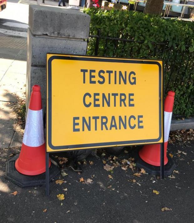 Oxford Mail: Testing Centre Entrance at Oxford Brookes University
