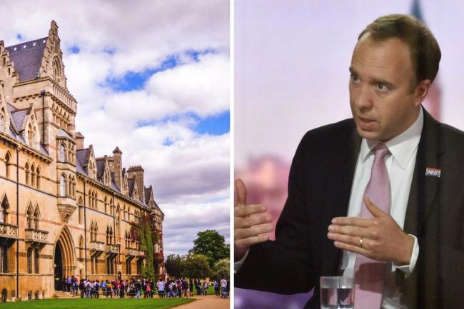 Matt Hancock not ruling out telling students to not to go home for Christmas. Picture: PA