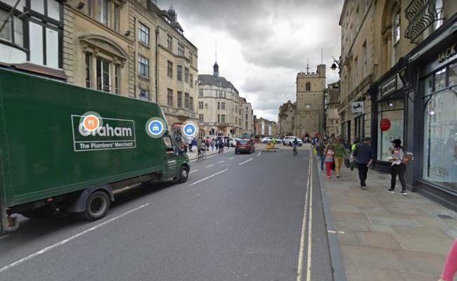 The assault happened in High Street, Oxford. Pic: Google Maps
