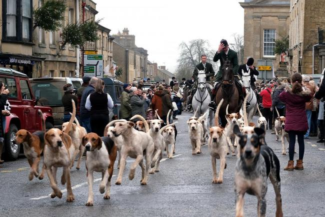 Heythrop Hunt at its Boxing Day event in Chipping Norton in 2018. Picture Ric Mellis