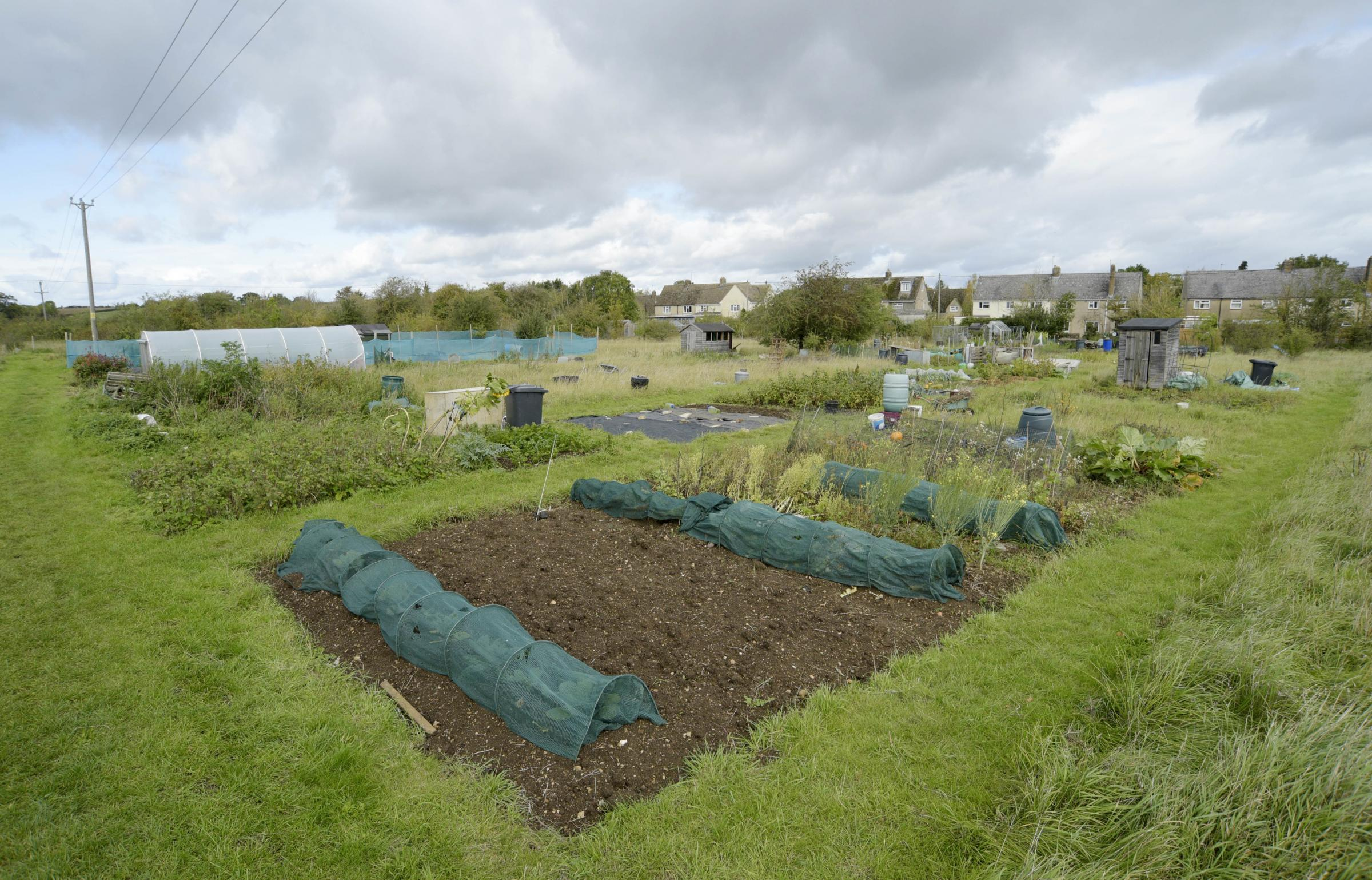 Cassington residents are angry over plans by the Blenheim Estate to build on the village allotments. Picture: David Fleming
