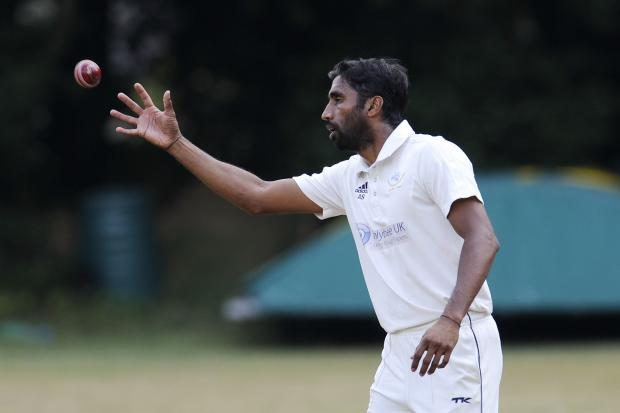 Anupam Sanklecha playing for Shipton-under-Wychwood in 2018  Picture: David Fleming