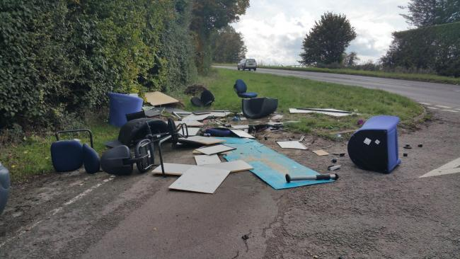 Offender who travelled from another county to fly-tip fined £1,000