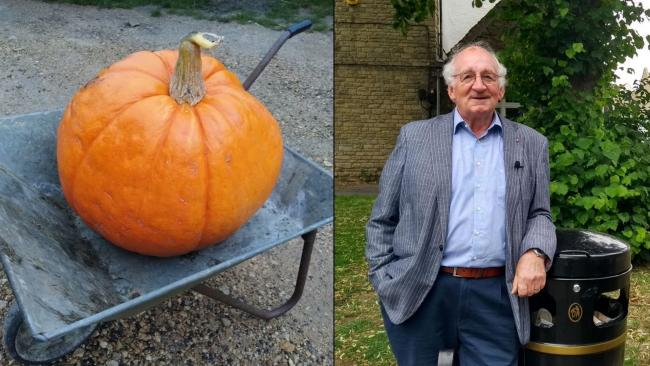 West Oxfordshire district councillor Norman MacRae is urging residents to not waste pumpkins. Pictures: WODC