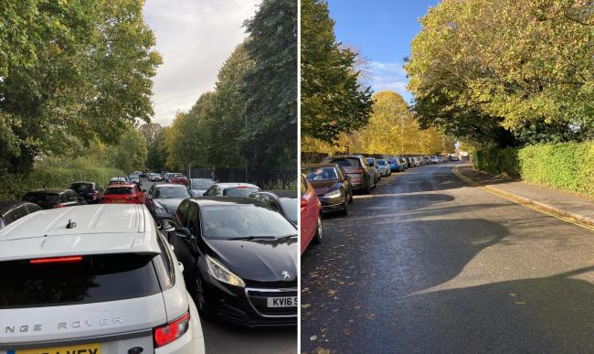 The scene on Rymers Lane, Florence Park, before and after the double yellow lines were painted on Pictures: Charlie Hicks