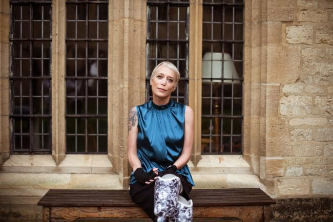 Oxford University                    professor who lost legs to sepsis shines in a                    photoshoot for fashion brand Kintsugi