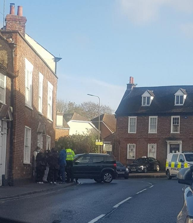 A car drove into a house in Wantage this afternoon Picture: Lisa Reed