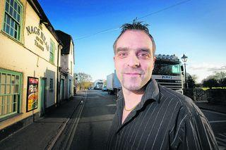 Mark Kelly, deputy manager of the Nags Head pub in Bridge Street