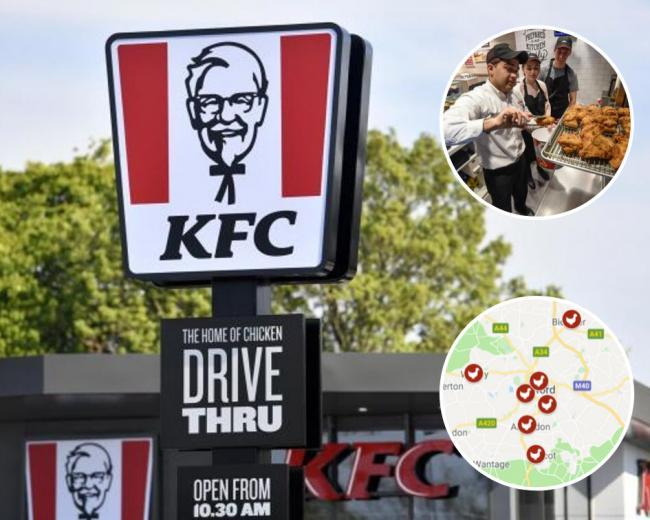 File picture of KFC opening new branches in Oxfordshire
