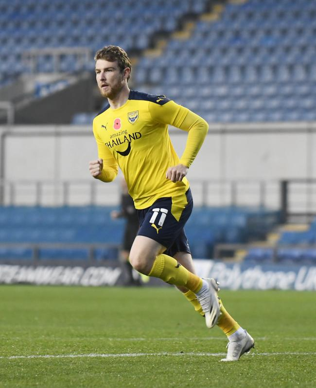 Sam Winnall has been troubled by fitness issues since joining Oxford United in September   Picture: David Fleming