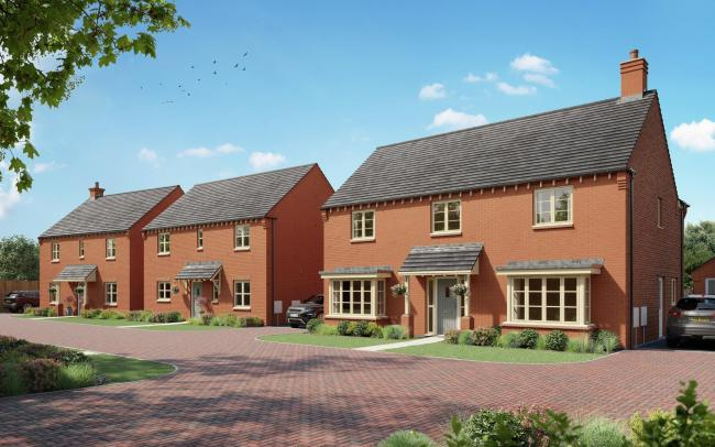 CGI of Mulberry Homes' Launton Mews development, near Bicester