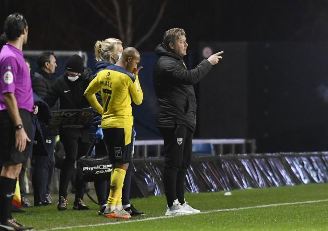 Oxford United boss Karl Robinson on the touchline against Forest Green Rovers Picture: David Fleming