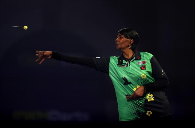 Deta Hedman in action at the PDC World Darts Championship Picture: PA Wire/Steven Paston