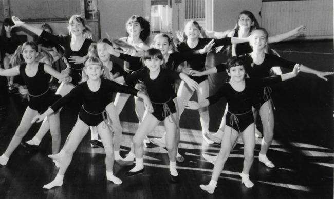 The Vera Legge dancers who took part in the 1984 pantomime, Dick Whittington, with Cilla Black