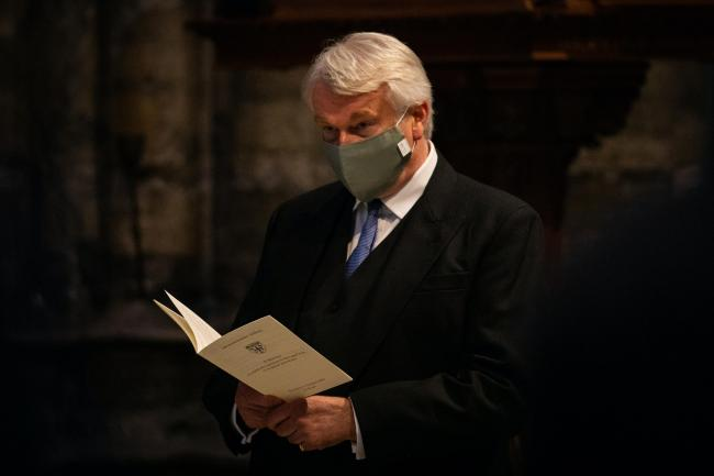Lord Chief Justice Lord Burnett of Maldon wearing a mask