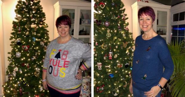 Oxford Mail: Kirsty Cound avant et après la perte de poids