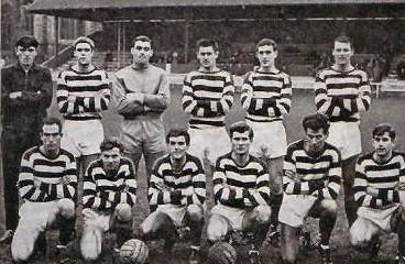 John 'Jack' Woodley (front row, far left) pictured along with his Oxford City teammates in 1966/67