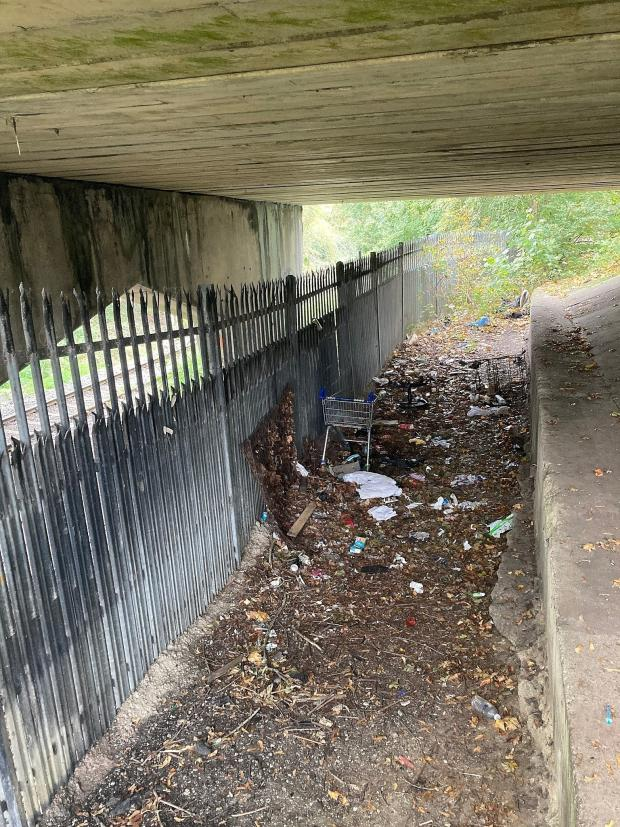 Oxford Mail: Blackbird Leys underpass used by drug users (before)