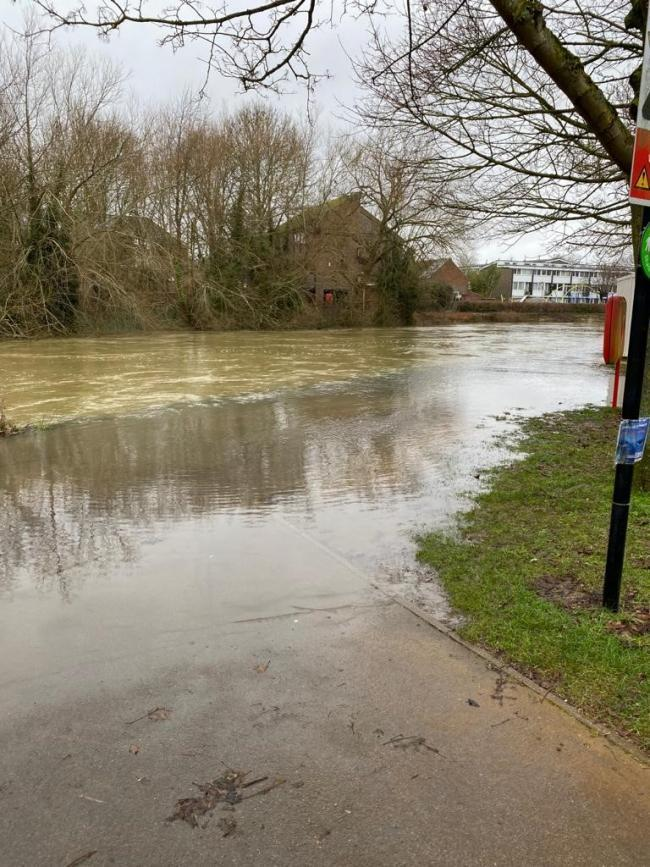 The Thames towpath in Oxford was flooded at Christmas time