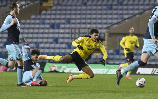 Marcus McGuane was one of the four changes made after an hour of Oxford United's win over Cambridge United Picture: David Fleming
