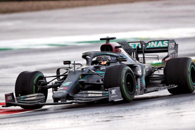 Lewis Hamilton drove to his seventh world championship in an all-black Mercedes